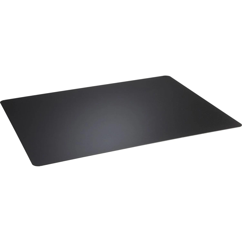 Plaque De Protection Sol En Acier Noire 100 X 75 Cm