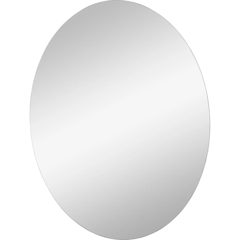 Miroir Non Lumineux Dcoup Ovale L60 X L45 Cm Poli