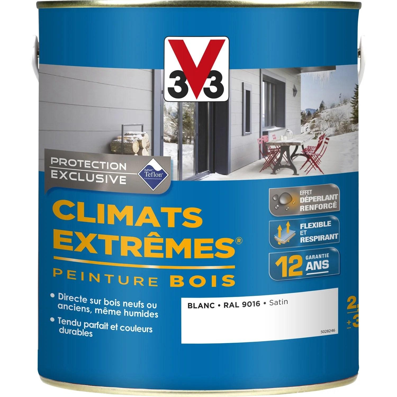 Peinture Bois Extrieur Climats Extrmes V33 Satin Blanc
