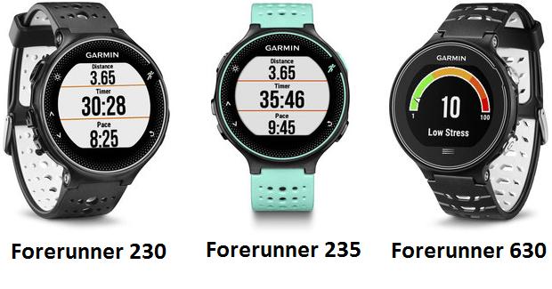 Forerunner 230, 235 et 630, les nouvelles montres Running de Garmin