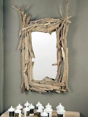 Miroirs en bois flotté Archives - Les bois flottés de Sophie
