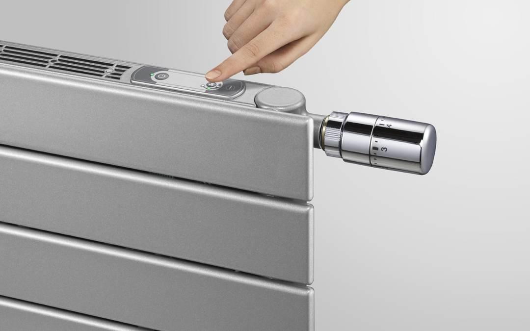La régulation avec un thermostat, robinet thermostatique et sonde de température
