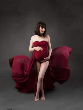 Création robe bodysuit Tulipe for fine art photographies