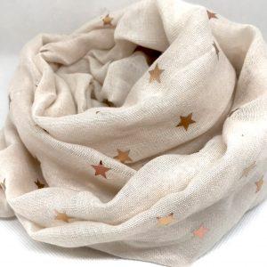 Foulard beige étoile