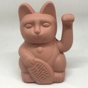 Chat porte bonheur terracotta