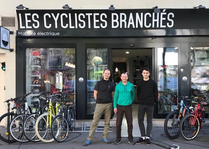 paris au magasin les cyclistes