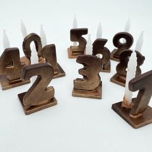 Bougies «chiffre» en chocolat noir