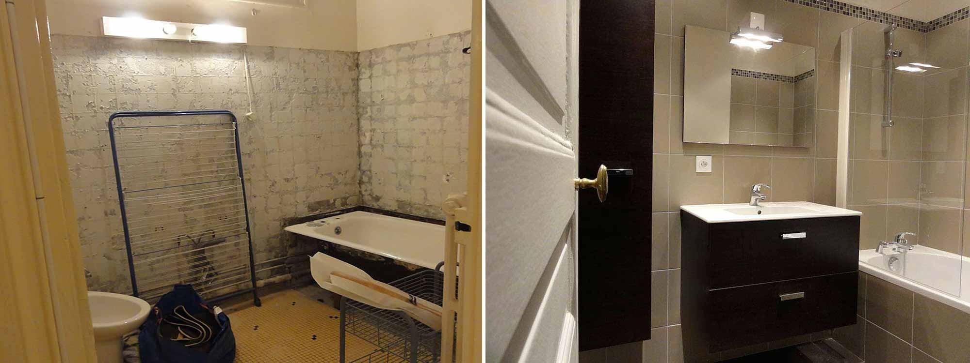 renovation salle de bain exemples avant apres renovation interieure lgelc paris
