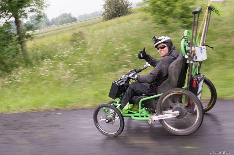 Le Tour de France d'Ibrahim Hamzaoui sur un Fauteuil connecté