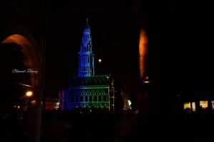 Beffroi video mapping Arras