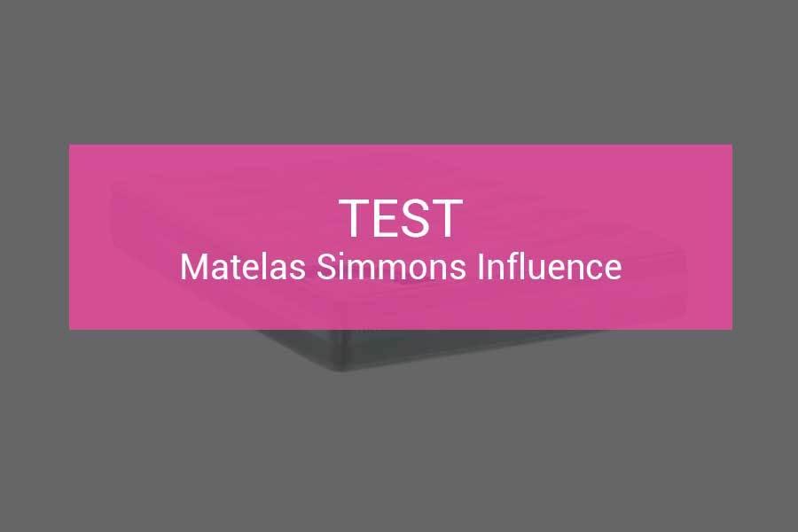 Test Et Avis Matelas Simmons Influence Le Haut De Gamme Simmons