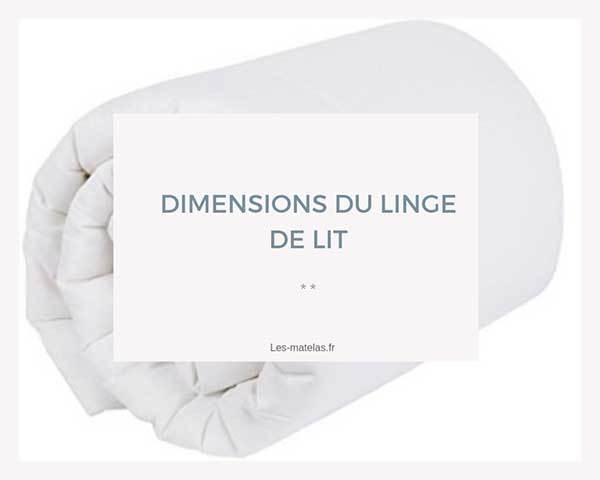 dimensions couettes draps housse