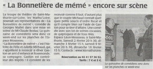 Article Co du 31/01/2013