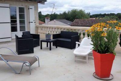 Terrasse - chambres d'hôtes - Jaunay-Marigny