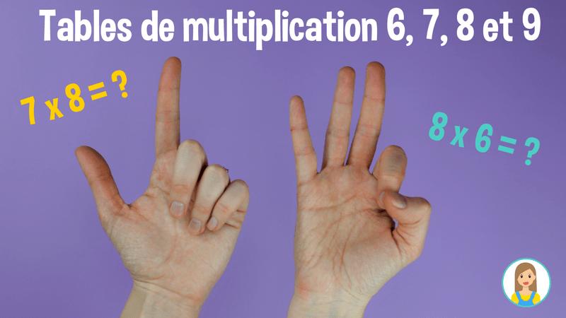 les tables de multiplication sur vos