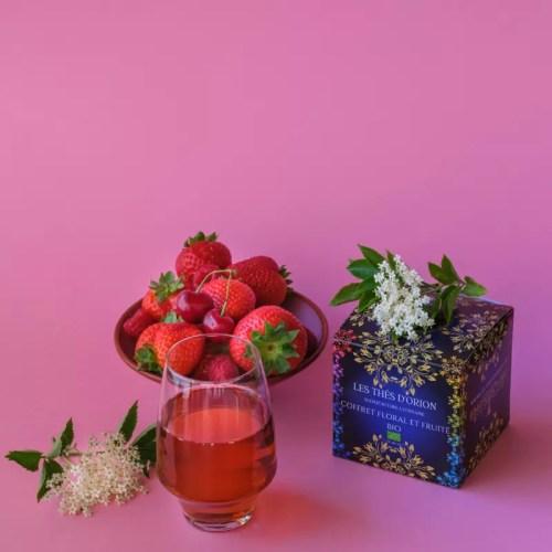 assortiment de thes parfumes _ ecrin floral et fruite _ the floral the bio en vrac