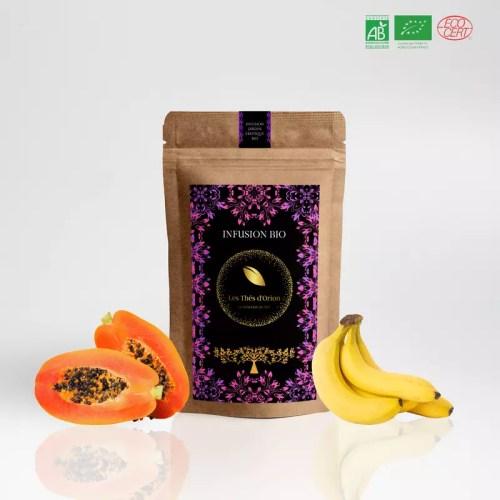 infusion exotique | infusion bio vrac | fruits entiers | Thés d'Orion