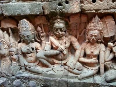 Empire Khmer : magie des temples d'Angkor au Cambodge. Fresque