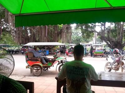 Le Cambodge : découverte de Siem Reap. Scène de rue