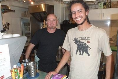 Végétarisme et restaurants à Sydney. Angie à Funky Pies