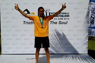 Triathlon sprint, compétition du calendrier 2013 à Bali Indonésie Le podium