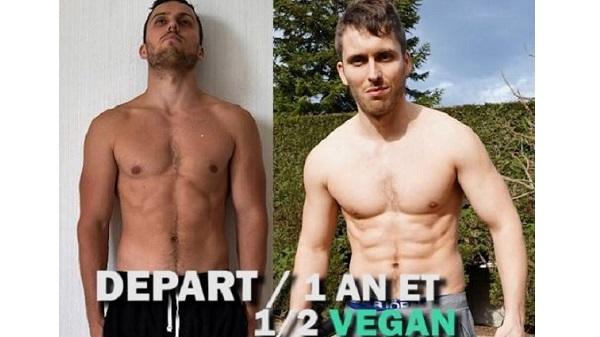 Jérémy, coach en musculation et nutrition vegan pour Treening Life. Avant Après