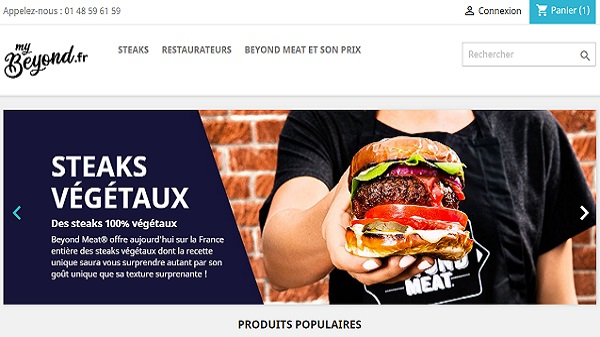 Le site marchand Beyond Meat