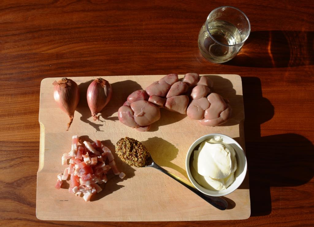 Ingrédients rognons de veau