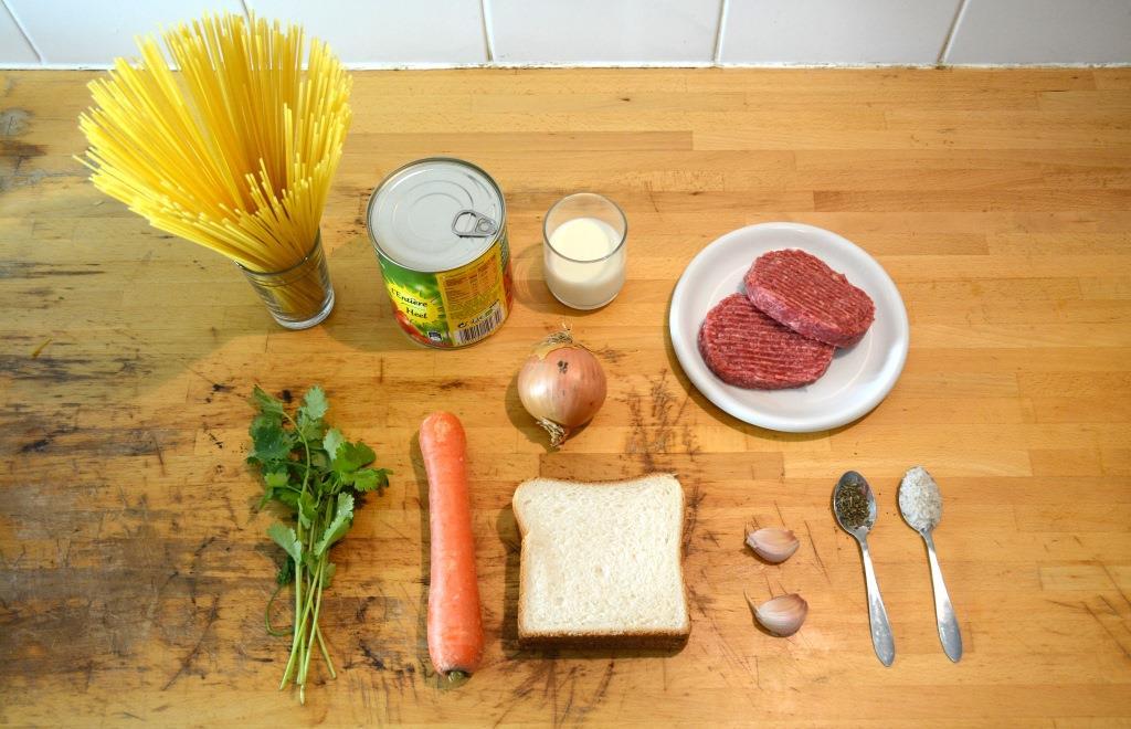1. spaghetti meatballs ingrédients