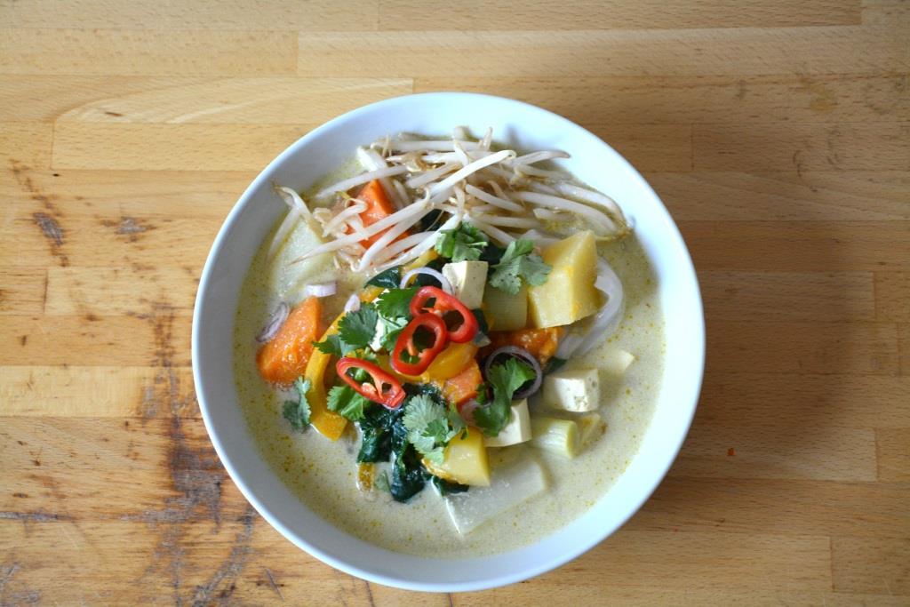 5. soupe vegan au lait de coco