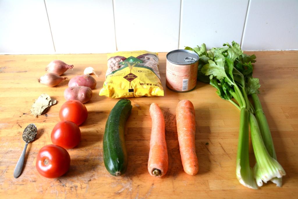 1. minestrone ingrédients