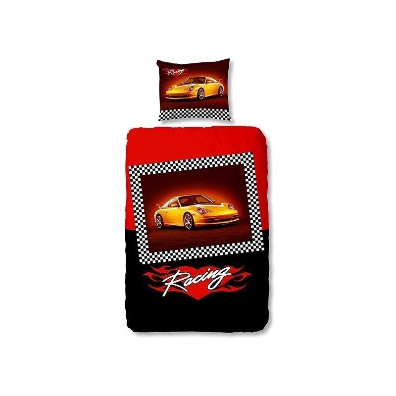 Housse De Couette Porsche Voiture Sport Jaune
