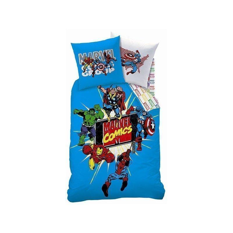 housse de couette et taie doreiller avengers comics heroes 100 coton avengers 140 x