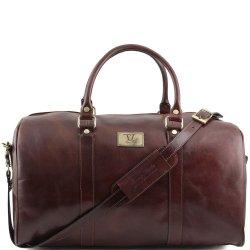 Tuscany-Leather-Sac-de-voyage-en-cuir-avec-poche--larrire-Marron-0