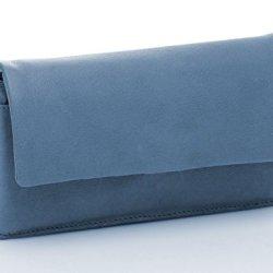 BOVARI-XL-Portefeuille-et-porte-monnaie-femme-20x11x3-cm-cuir-de-veau-supermou-vintage-bleu-0