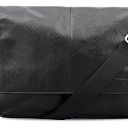 BOVARI-Messenger-en-cuir-Sac-bandoulire-sac-port-paule-35x27x8-cm-Model-Vienna-noir-0