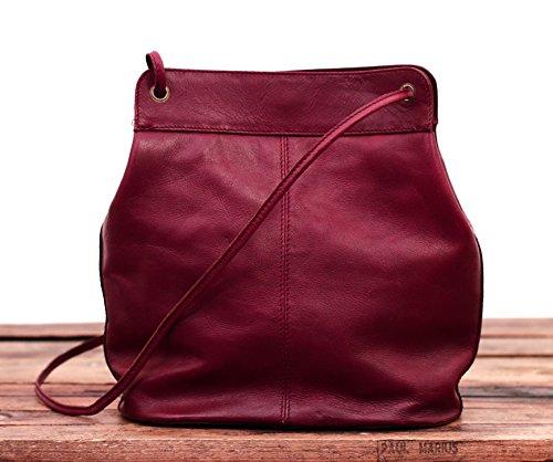 LE 1950 Bordeaux sac vintage en cuir inspiré des années 50 multi-positions PAUL MARIUS gAFzuw