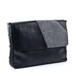 FEYNSINN-sac-bandoulire-FYNN-sacoche-pour-ordinateur-portable-en-cuir-besace-noir-feutre-gris-41-x-29-x-9-cm-0