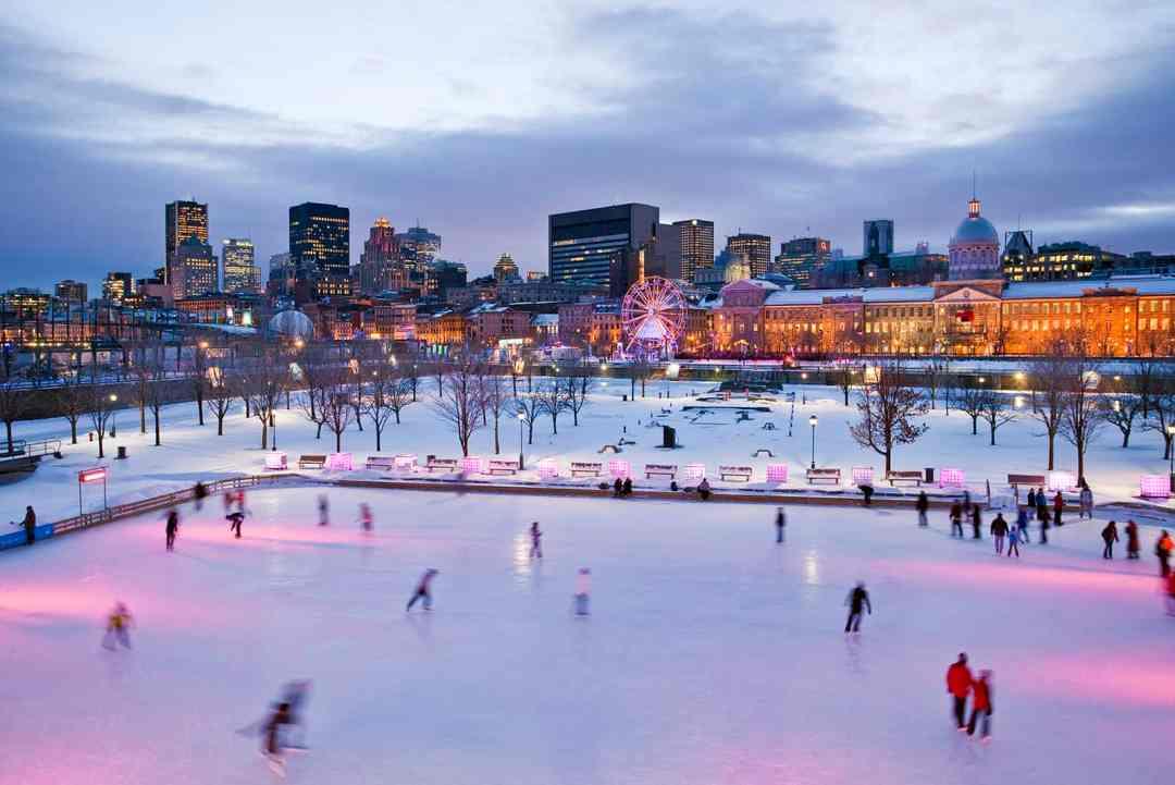 Old Montreal skating rink