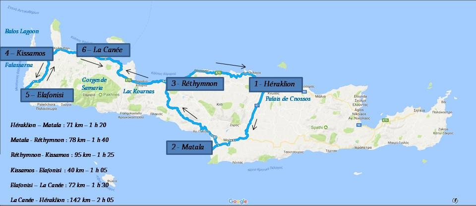 Carte Circuit Crete.Circuit 10 Jours En Crete Les Amoureux Du Monde