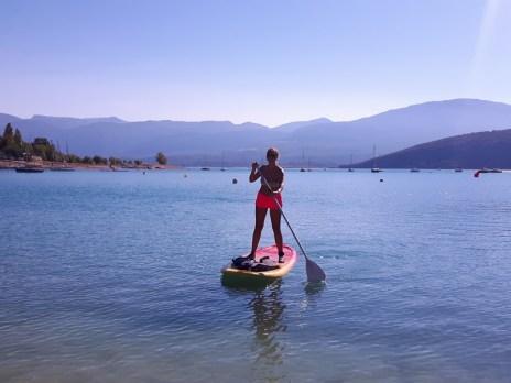 paddle sur le lac Sainte Croix