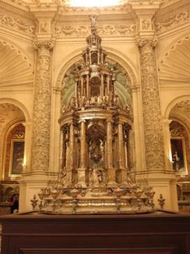 Cathédrale de Séville - sacristia Mayor _ ostensoir en argent de Juan de Arfe