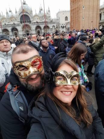 Carnaval de Venise - Place Saint- Marc - les amoureux du monde