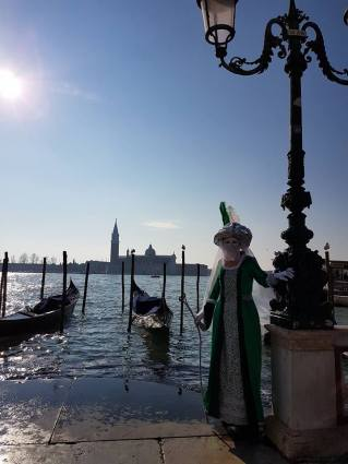 Carnaval devant la lagune Venise