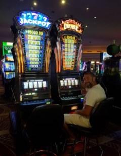 Stéphane au casino à Las Vegas