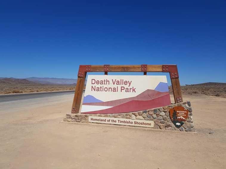 Panneau à l'entrée de Death Valley National Park