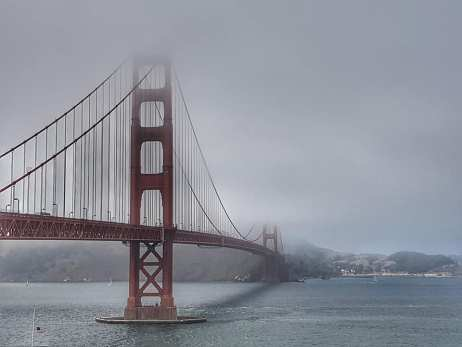 San Francisco - Golden Bridge sous le fog
