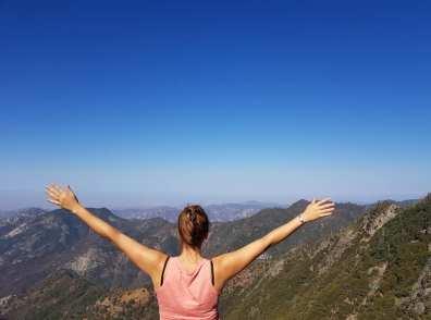 Vue depuis Moro Rock - Sequoia national park - USA