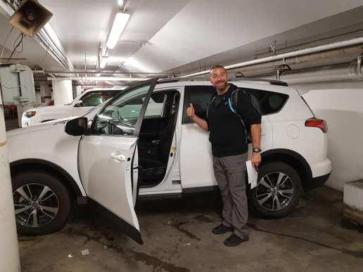location d'un SUV chez Thrifty à San Francisco
