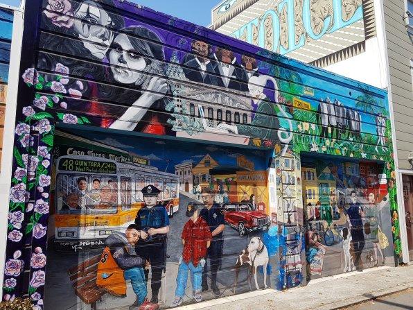 street art sur Balmy Alley - Mission District - San Francisco